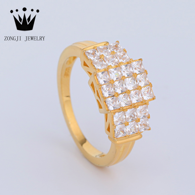 Fancy Design 925 Sterling Silver Jewelry Gold Ring Design For ...