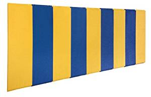 First Team FT458-WB Foam-Vinyl-OSB 2 X 8 ft. BodyGuard Wall Pad with Wood Backing44; Royal Blue