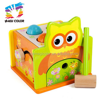 Wholesale educational baby wooden knocking toy new product kids wooden knocking toy W11G037