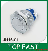 16mm Screw fixing terminal electrical wiring push button metal switch Cheaper price