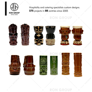 Wholesale High Quality Ceramic Tiki Mug For Restaurant Bar