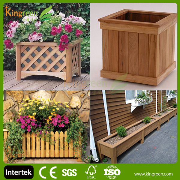 Wpc Diy Interlocking Flower Pot 2017 Outdoor Plastic Box Wooden Stands