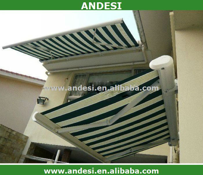 motorized complete cassette retractable awning