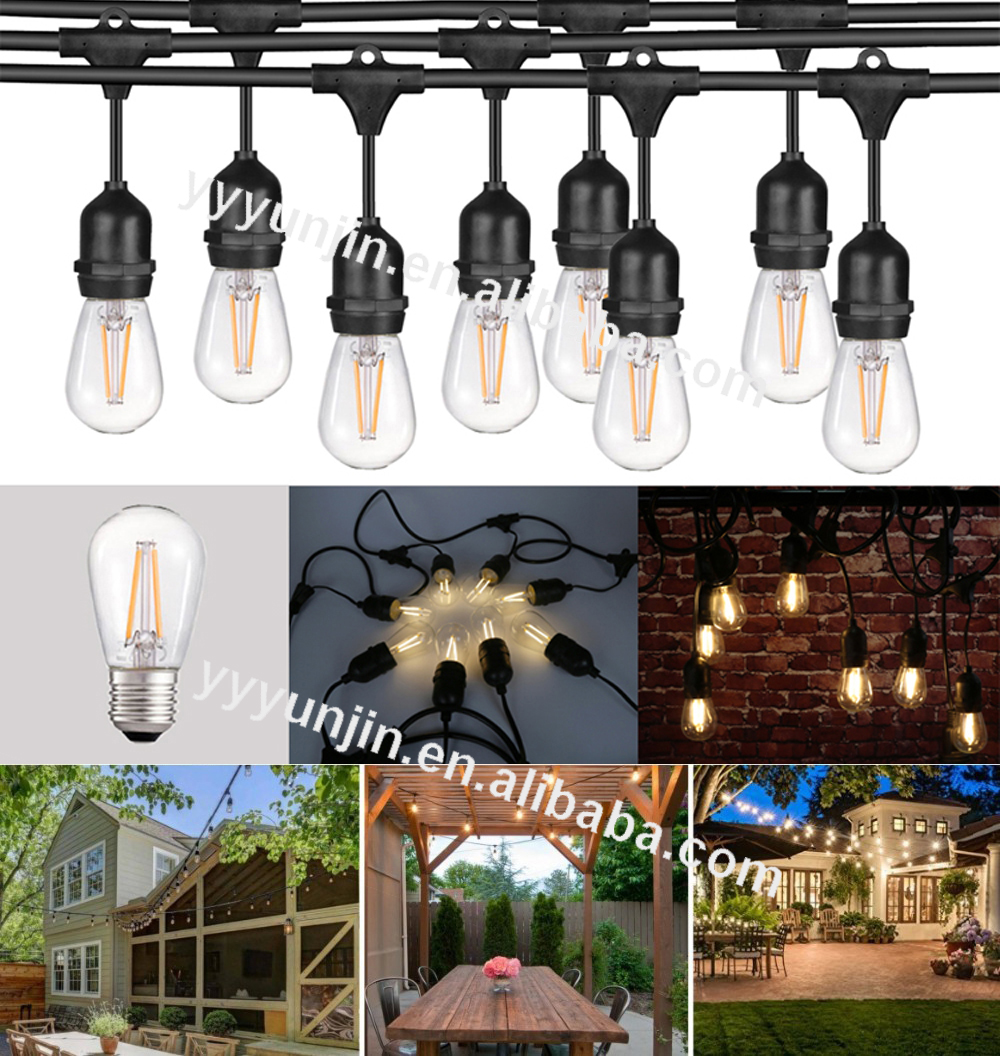 Solar 12M 100LED Multicolor LED String Light fairy lights Waterproof Garden Holiday Christmas decorations outdoor rope lights