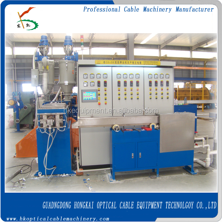 power wires double layer co-extrusion machine/electrical cable machine/cable manufacturing machine