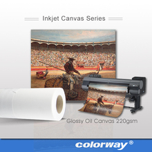 Heavy weight printing poly cotton plotter solvent inkjet canvas