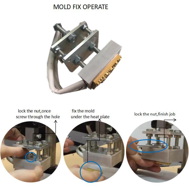 اليد عقد الرقمية احباط الساخنة ختم آلة للخشب الجلود البلاستيك حقيبة