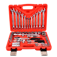63Pcs Auto Repair Wrench Tool Set Flexible Ratchet Wrench Set Socket Wrench Hiome Tool Kit Set