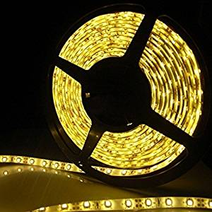 XKTTSUEERCRR Waterproof LED 3528 SMD 300LED 5M Flexible Light Strip 12V 2A 24W 60LED/M (Yellow) Color: Yellow Size: 3528 SMD Model: (Hardware & Tools Store)