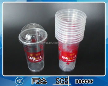 1000ml Pp Plastic Cup With Dome Lid