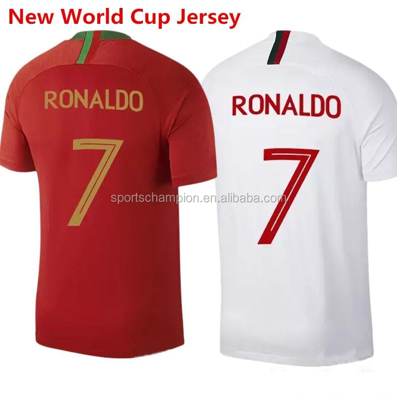 low priced 75da4 fae36 2018 World Cup Portugal Jersey Soccer Wholesale Thai Quality Soccer Jersey  - Buy Portugal Football Jerseys,Cheap Soccer Jerseys,Bulk Soccer Jerseys ...