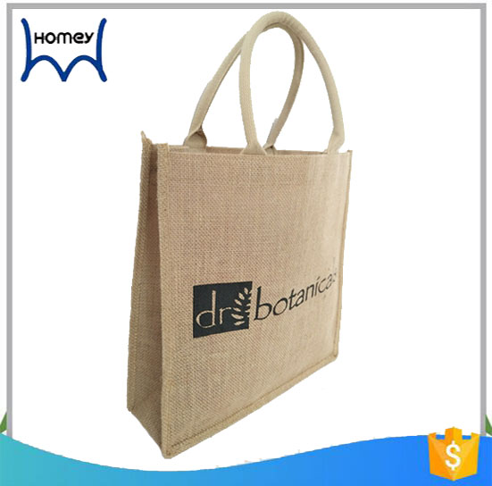 Promotional sublimation print coated jute packing satchel bag 5kg