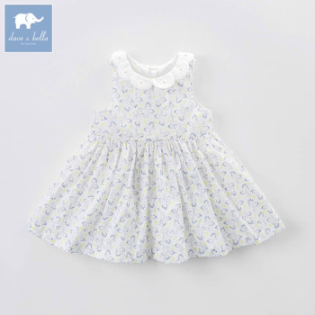 DBZ7252 dave bella summer infant baby girl's princess dress floral birthday wedding party dress toddler children clothes