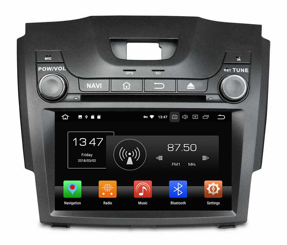 2 din car stereo android 8.0 car audio cd dvd players for S10 / D-MAX 2013-2017 octa core 4g ram car video system price