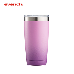 Vacuum insulated beer tumbler with color changing