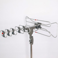VHF/UHF 47-862MHz outdoor tv antenna 150 miles hdtv digital tv remote controlled rotating antenna 360 degree rotation