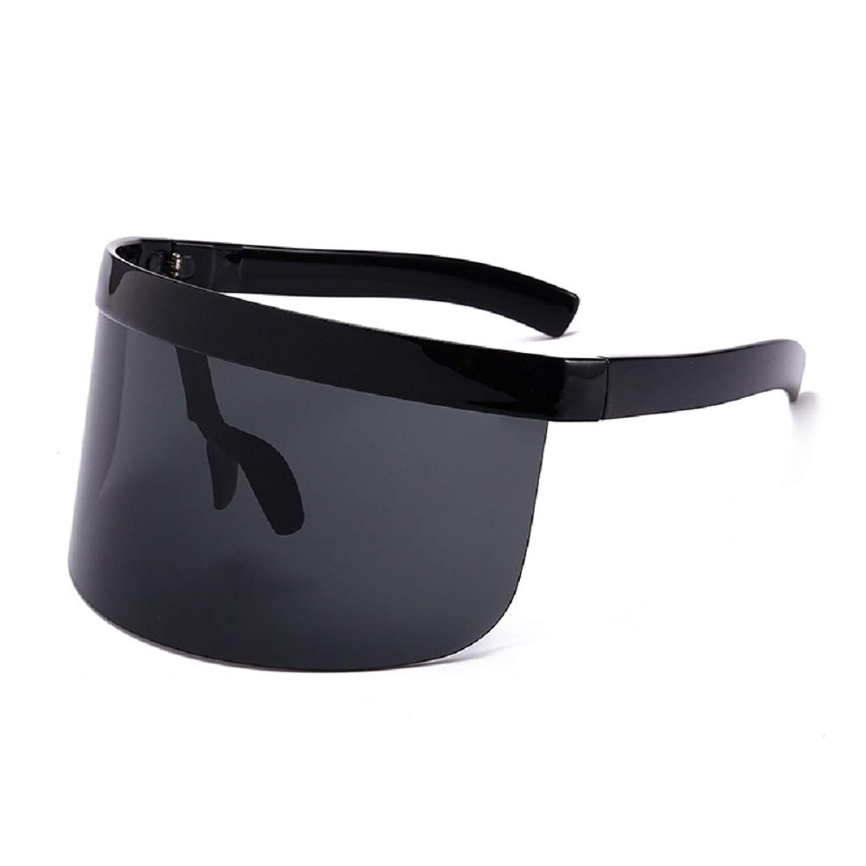 dc24d7226d8 Get Quotations · Oversize Shield Visor Sunglasses Huge Mask Color Mirror  Funky Sunglasses Flat Top Mirrored Mono Lens