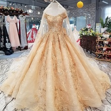 21447 tulle ไข่มุกหรูหรา beaded off ไหล่ corset กลับคำแต่งงาน gowns dresses gold sequined
