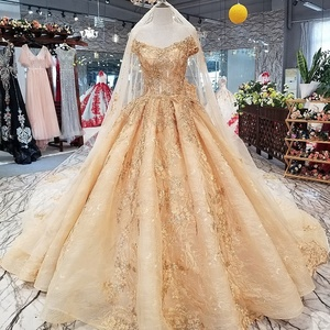 21447 tulle luxury pearls beaded off the shoulder corset back arabic wedding gowns dresses gold sequined