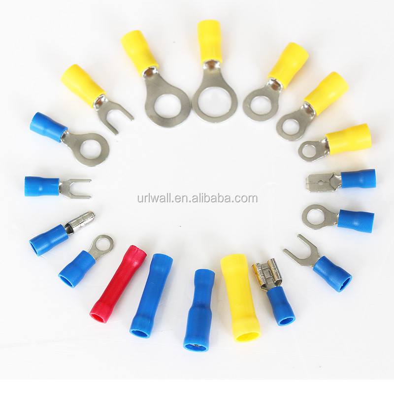 180pcs Red Blue Yellow Crimp Connector Set Assorted Ring Fork ...