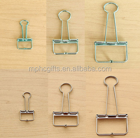 Hot sale Office School Home Multi Use Various Colors Sizes Fold back Metal Wire Binding Clips