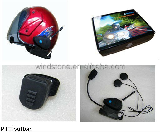 Wireless 2Km intercom helmet headset for bicycle, motorcycle