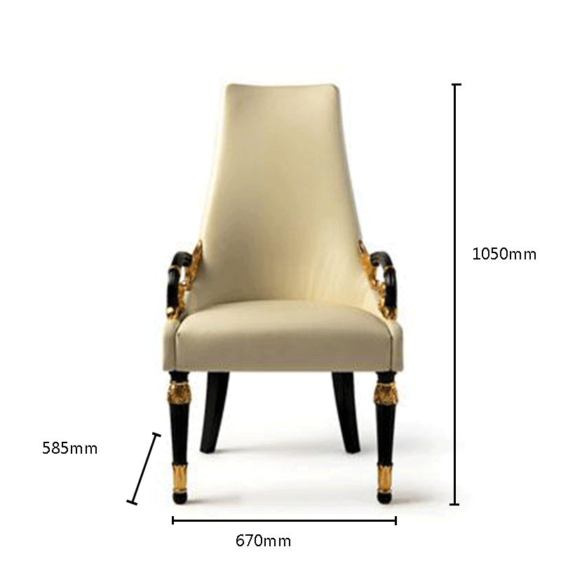Upholstered fabric chair with armrests  new style classic wood frame single seat lving room
