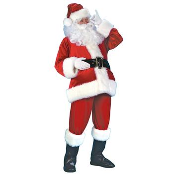 High quality  red color Santa Claus costume/christmas costume for adult