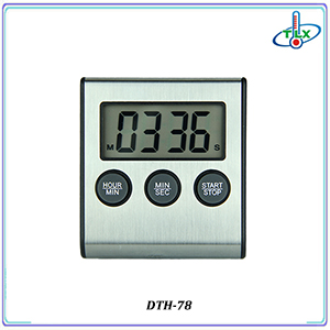 Digital Countdown Houseware Kitchen Timer with Alarm Function in Stainless Steel Material