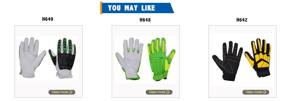 PRI SAFETY Anti Vibration magnetic glove screen touch gloves western safety gloves work safety
