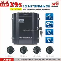h 264 dvr software download 4CH AHD 720P/960P GPS 3G 4G WiFi DVR school bus taxi Vehicle MDVR, X9s