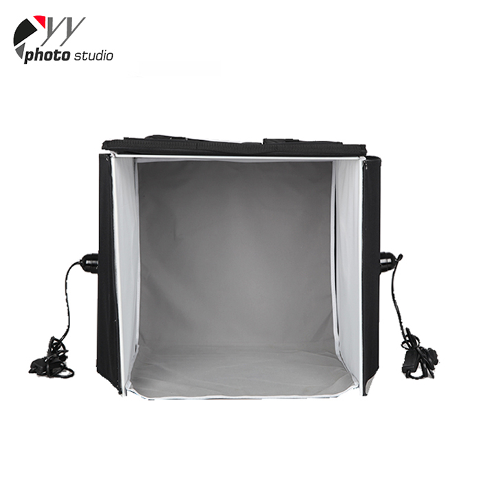 Portable 40x40cm 50x50cm 60x60cm Photography Studio Photo Box With 22W Daylight Lamps