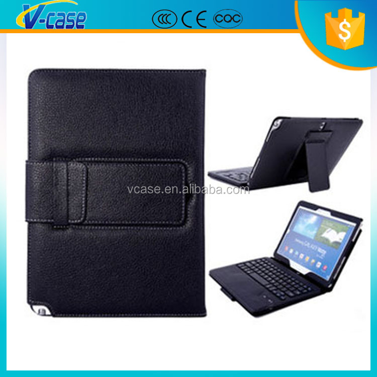 8 Inch Tablet Pc Pu Leather Case With Detachable Bluetooth Keyboard For Samsung P601