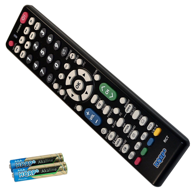 HQRP Remote Control for Sharp LC-48LE551U LC-50LB261U LC-52E77U LC-52E77UN LC-52LE700UN LCD LED HD TV Smart 1080p 3D Ultra 4K AQUOS + HQRP Coaster