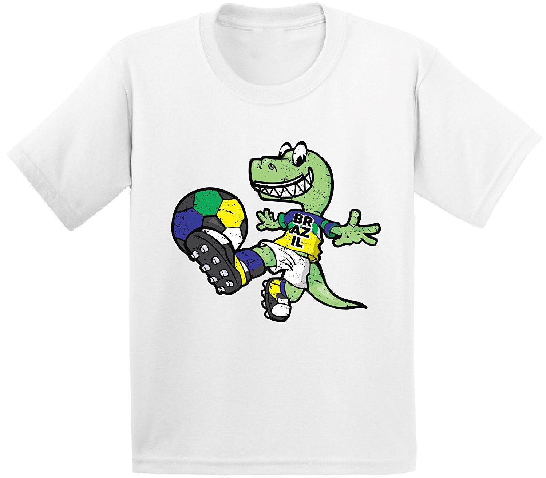 a2c0d2094b8 Get Quotations · Awkward Styles Brazil Toddler Soccer Shirt Dinosaur Shirt  Toddler Boys Soccer Girl