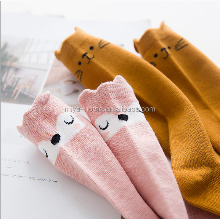 New design cotton cartoon baby socks / Summer breathable sweat-absorbent  anti-slip infant socks