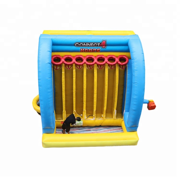 New Design <strong>Inflatable</strong> Connect 4 Basketball Hoops And Movie Screen Game