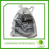 100% recycled wholesale cotton fabric drawstring bag