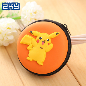 Novelty Custom Colorful Women Pouch Bag Mini Round Silicone Coin Purse Wallet With Zipper