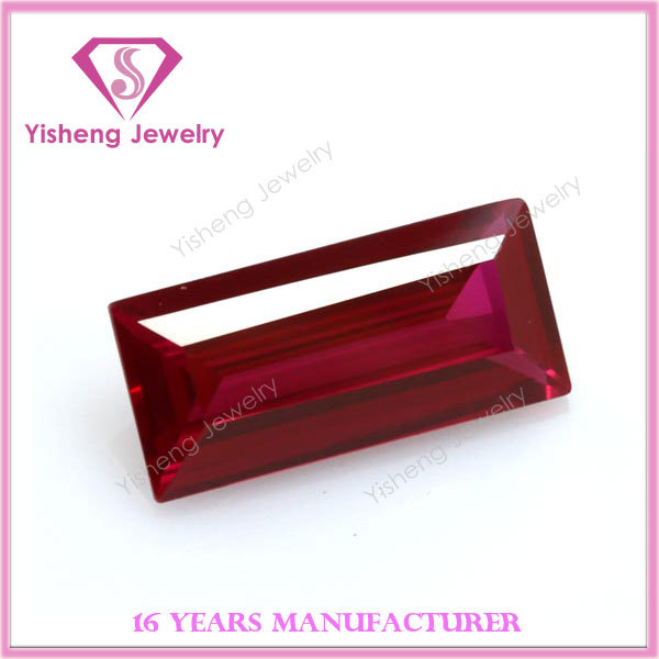New fashion different shapes red ruby 5# corundum stone from Wuzhou