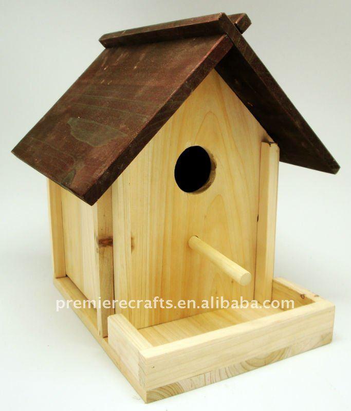 Diy Wooden Bird House And Bird Feeder Buy Wooden Bird House Bird Feeder Wooden Feeder Product On Alibaba Com