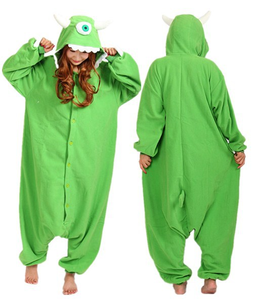 b2b0e30253d4 Get Quotations · Anime Monocular Green Monster jumpsuit Adult Onesies Animal  Sleepwear Cosplay Costume One Pieces Footed Pajamas