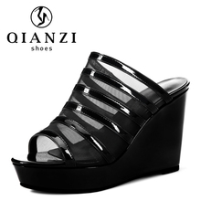 7057 fashionable hot selling summer wedge heel sandals for ladies