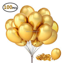 "12 ""Gold Shiny <span class=keywords><strong>Latex</strong></span> Ballonnen voor party Decoratie 100 stks/pak"