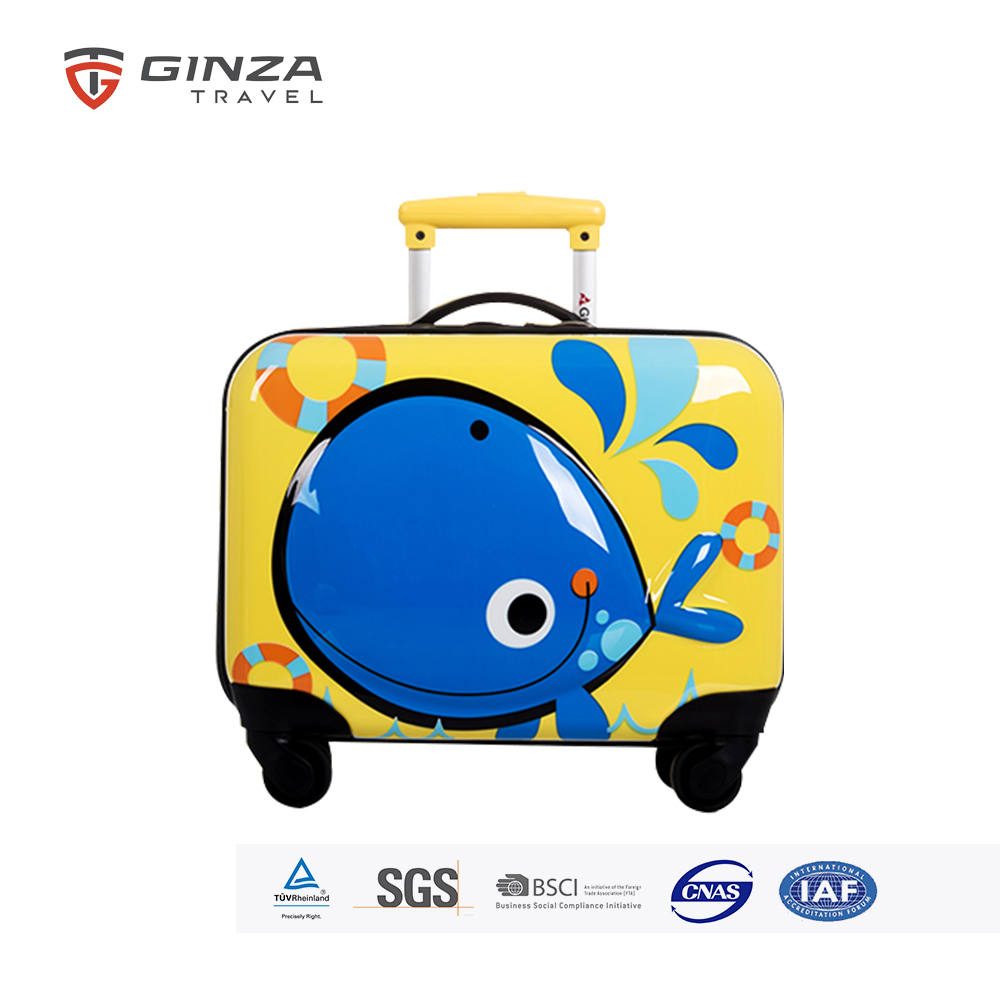 GINZA TRAVEL 18 Inch Upright Hardside Kids Trolley Bags With 4 Wheels