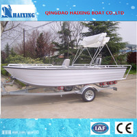 All-welded Aluminium Fishing Boats With Control Panel And Canopy ...
