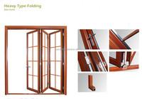 OEM aluminum window and door wooden bifold door