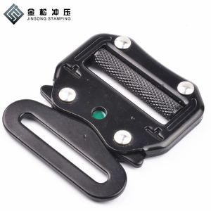 High quality metal buckle manufacturers black color safety slip belt buckle/cobra buckle