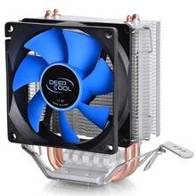 CPU cooler mini ice CPU cooling fan (multi platform 8CM radiator fan heat pipes mute)  for intel LGA 775/1155/1156 socket