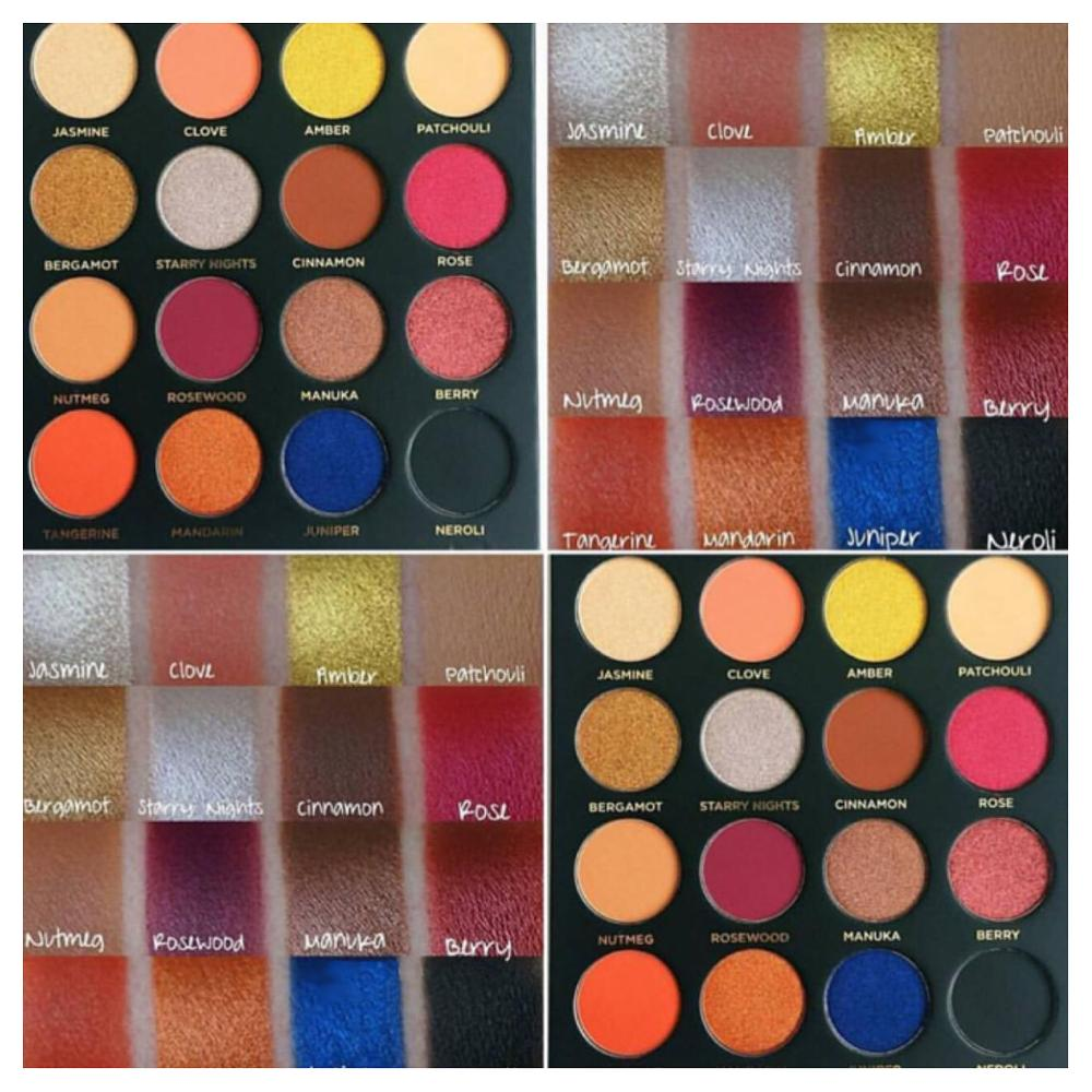 2018 wholesale high pigment cardboard 16 color private label eyeshadow palette